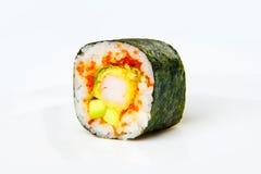Rollo de sushi con tempura del camarón del tigre Fotografía de archivo