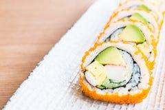 Rollo de sushi de California foto de archivo libre de regalías