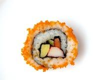 Rollo de sushi de la alga marina de las huevas del pez volador Fotos de archivo libres de regalías