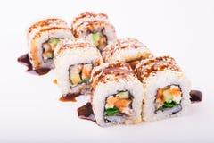 Rollo de sushi de la anguila Imagenes de archivo