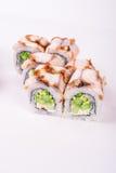 Rollo de sushi de la anguila Fotografía de archivo