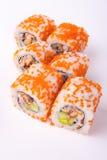 Rollo de sushi de la anguila Fotos de archivo