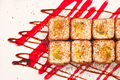 Rollo de sushi del sudor Fotografía de archivo libre de regalías