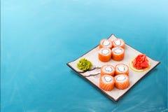 Rollo de sushi Philadelphia determinada Fotos de archivo