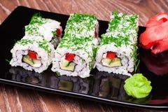 Rollo de sushi vegetariano Fotografía de archivo libre de regalías