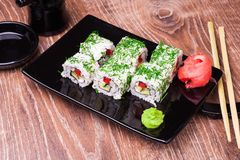 Rollo de sushi vegetariano Imagen de archivo