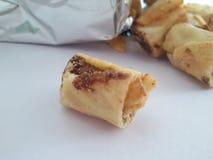 Rollo del biskit del chocolate Imagen de archivo libre de regalías
