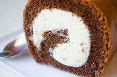 Rollo del chocolate, panadería fotografía de archivo libre de regalías
