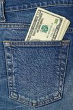 Rollo del dinero suelto Foto de archivo