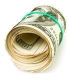 Rollo del efectivo del dinero Fotografía de archivo
