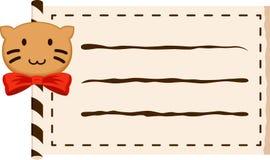 Rollo del papel del gato Foto de archivo