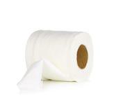 Rollo del papel seda en el fondo blanco Imágenes de archivo libres de regalías