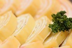 Rollo del queso Imágenes de archivo libres de regalías