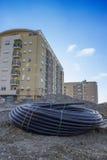 Rollo del tubo para el abastecimiento de agua Foto de archivo