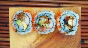 Rollo especial del restaurante de sushi Fotos de archivo