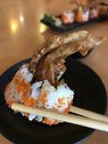Rollo frito del cangrejo (comida japonesa) Fotografía de archivo
