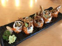 Rollo frito del cangrejo (comida japonesa) Fotografía de archivo libre de regalías