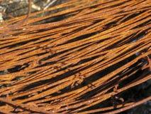 Rollo oxidado del alambre Textura imagenes de archivo