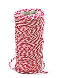 Rollo rojo y blanco de la cuerda de la pana Imagen de archivo