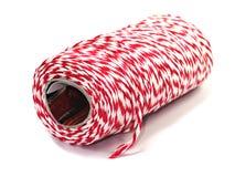 Rollo rojo y blanco de la cuerda de la pana Imágenes de archivo libres de regalías