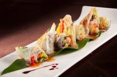 Rollo tailandés de la ensalada de la salsa Imagenes de archivo