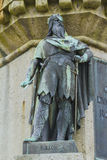 Rollon. The Dukes of Normandy on the pedestal of the statue of William the Conqueror in Falaise Normandy Stock Photo
