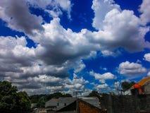 Rollongwolken stock afbeelding