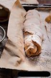 rollos cocidos con la manzana Foto de archivo libre de regalías