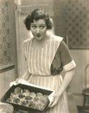 Rollos cocidos frescos de la cena fotografía de archivo libre de regalías