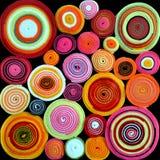 Rollos coloridos de la tela Foto de archivo libre de regalías
