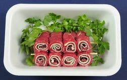 Rollos de carne Foto de archivo libre de regalías