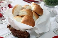 Rollos de la cena Foto de archivo libre de regalías