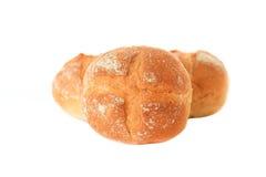 Rollos de pan en el fondo blanco Imagen de archivo libre de regalías