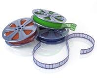 Rollos de película del cine Imágenes de archivo libres de regalías