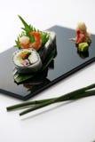 Rollos de sushi Imagen de archivo libre de regalías