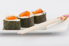 Rollos de sushi deliciosos Imagenes de archivo