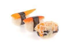 Rollos de sushi fijados Fotos de archivo libres de regalías