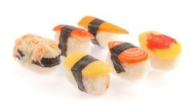 Rollos de sushi fijados Imagen de archivo
