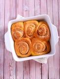 Rollos dulces de la calabaza del Streusel fotos de archivo