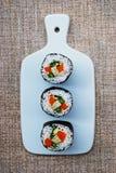 Rollos vegetarianos del maki del sushi imagen de archivo libre de regalías