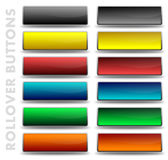 Glossy Rollover buttons. A set of rollover buttons for websites Stock Photography