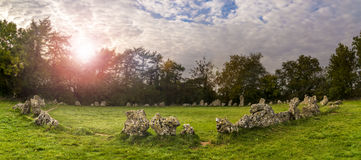 Rollright stones ancient monument in Oxfordshire Stock Images
