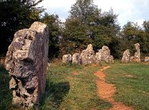 Rollright stones, Oxfordshire, England. Royalty Free Stock Photos