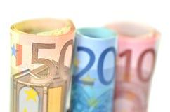 Rolls банкнот евро Стоковые Изображения