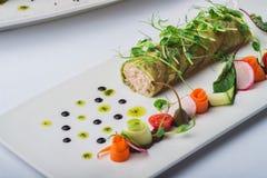 Rolls мяса краба Стоковые Фотографии RF