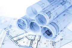 Rolls светокопий архитектуры стоковые фото