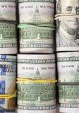 Rolls 100 счетов доллара США Стоковое фото RF
