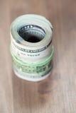 Rolls 100 счетов доллара США Стоковое Изображение RF