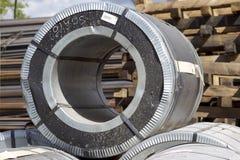 Rolls холоднопрокатной гальванизированной стали с покрытием полимера Стоковая Фотография