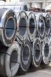 Rolls холоднопрокатной гальванизированной стали с покрытием полимера Стоковые Фото
